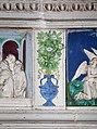Andrea della robbia, pala dell'ascensione di maria, predella, 02 vaso con fiori.jpg