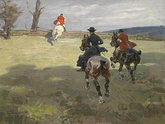 Angelo Jank - Parforcejagd (Hunting with animals, a title borne by several of his works)