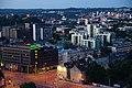 Ankstyvas rytas ant Vilniaus verslo uosto (http-www.vvu.lt-) mažosios burės 17-ojo aukšto stogo (1) - panoramio.jpg
