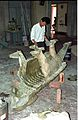 Ankylosaurus in Progress - Dinosaurs Alive Exhibition - NCSM - Calcutta 1995 447.JPG
