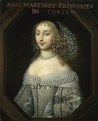 Anne Marie Martinozzi - Image: Anna Maria Martonozzi, Princess of Conti by an unknown artist (Palace of Versailles)