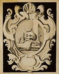 Cartouche with Vanitas