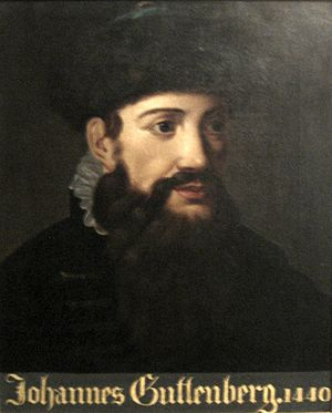 Anonymous portrait of Johannes Gutenberg dated...