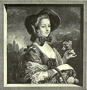 "Jean-Louis Anselin - Madame Pompadour as ""La Belle Jardiniere"" (after Charles-André van Loo)"