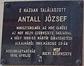 Antall József emléktábla, Fő utca 23, 2017 Mosonmagyaróvár.jpg
