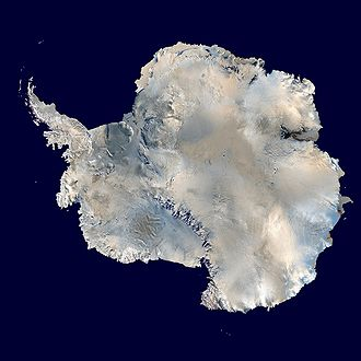 South Pole - NASA image showing Antarctica and the South Pole in 2005.
