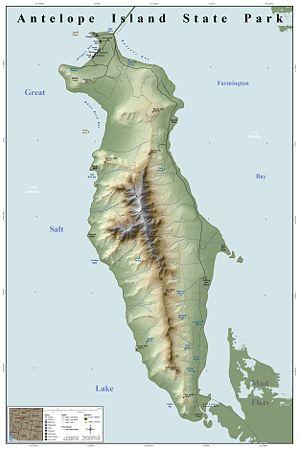Antelope Island bison herd - Map of Antelope Island