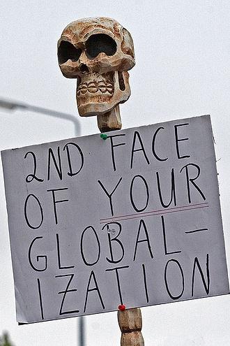 Anti-globalization movement - Protest against the G8-meeting in Heiligendamm, 2007.