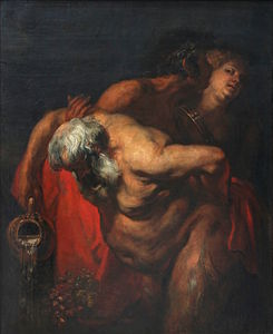 Antoon Van Dyck - Silène ivre soutenu par un faune et une bacchante.jpg