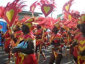 Antigua Carnival - Revellers on Carnival Tuesday.