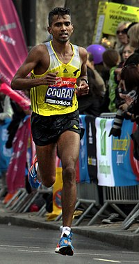 Anuradha Cooray during 2013 London Marathon (2) (cropped).JPG