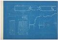 Arbetsritning för fastigheten nr 4 Hamngatan. Ytterportar och tak, blueprint - Hallwylska museet - 105258.tif