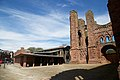 Arbroath Abbey - view of west front with visitor centre.jpg