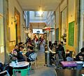 Arcade joining Onasagorou street with Ledra Street cafes during afternoon Nicosia Republic of Cyprus.jpg