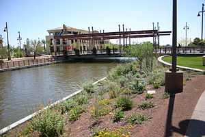 Arizona Canal - Photo of the Marshall Way bridge over the Arizona Canal in Downtown Scottsdale.