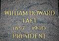 Arlington National Cemetery - William Howard Taft marker inscription - 2011.jpg