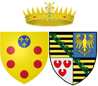 Arms of Anna Maria Franziska of Saxe-Lauenburg as Grand Duchess of Tuscany.png