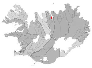 Hjalteyri - Image: Arnarneshreppur map