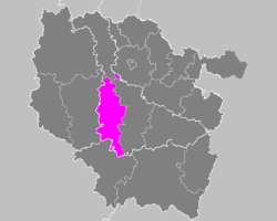 Location of Toul in Lorraine