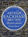 Arthur Rackham 1867-1939 illustrator lived here.jpg