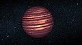 Artist's conception of a brown dwarf like 2MASSJ22282889-431026.jpg