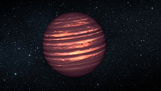 Type of substellar object larger than a gas giant