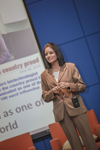 Mahaletchumy Arujanan - Arujanan in Penang, Malaysia giving a talk on her career journey