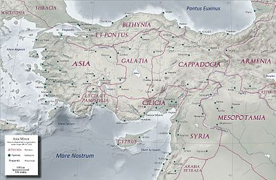 Map Of Asia Minor In Biblical Times.Asia Roman Province Wikipedia
