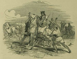 Passaleão incident - Assassination of Amaral, from the Illustrated London News, 10 November 1849