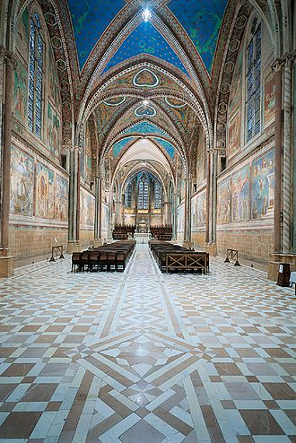Basilica of Saint Francis of Assisi - Nave of the upper basilica.