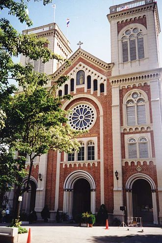 Christianity in Thailand - Image: Assumption cathedral Bangkok