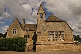 National school (England and Wales) - Aston and Cote Church of England Primary School in Aston, Oxfordshire, built as a National School in 1856