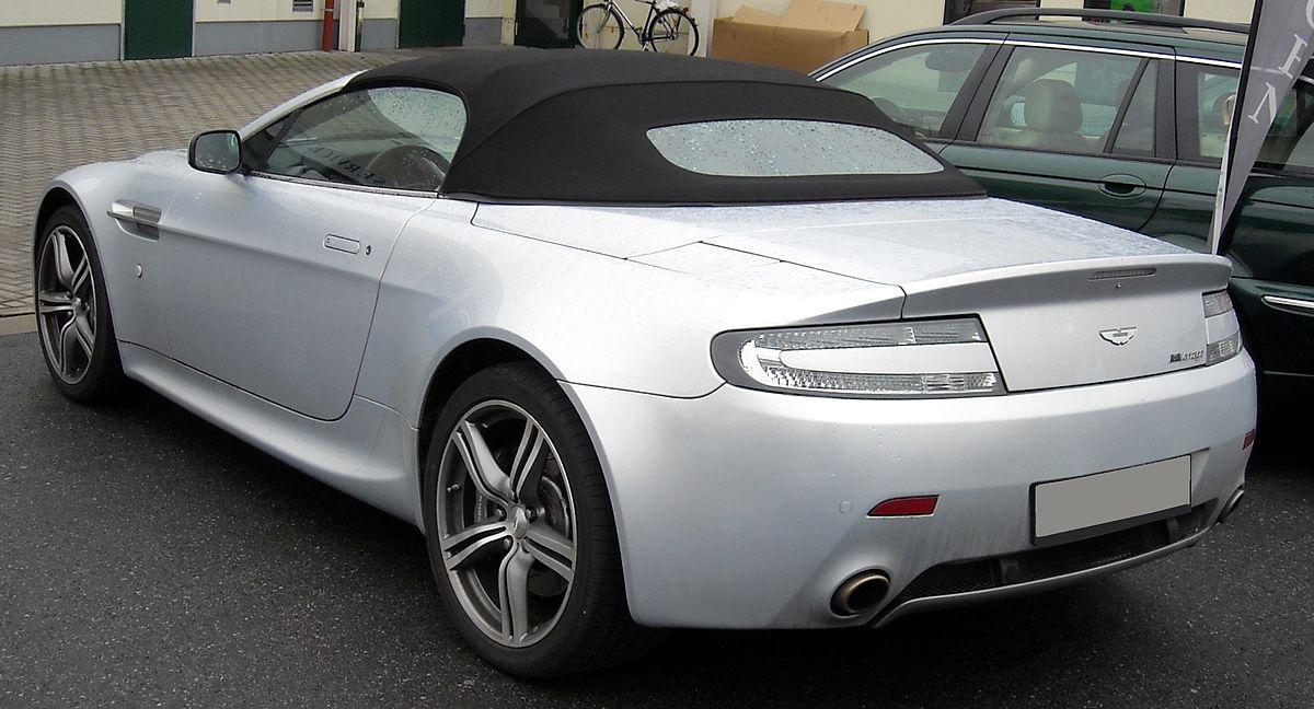 File Aston Martin V8 Vantage Roadster Silver Rear 20081204 Jpg Wikimedia Commons