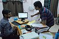 Atanu Saha and Jayanta Nath - Conference Preparation - Bengali Wikipedia 10th Anniversary Celebration - Jadavpur University - Kolkata 2014-11-21 0766.JPG