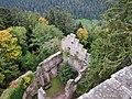 Ausblick von der Burgruine Zavelstein, Mitte des 13. Jahrhunderts erstmalig erbaut, 1630 Umbau der Burg zum Schloss, 1692 durch Truppenteile Melacs zerstört - panoramio (7).jpg