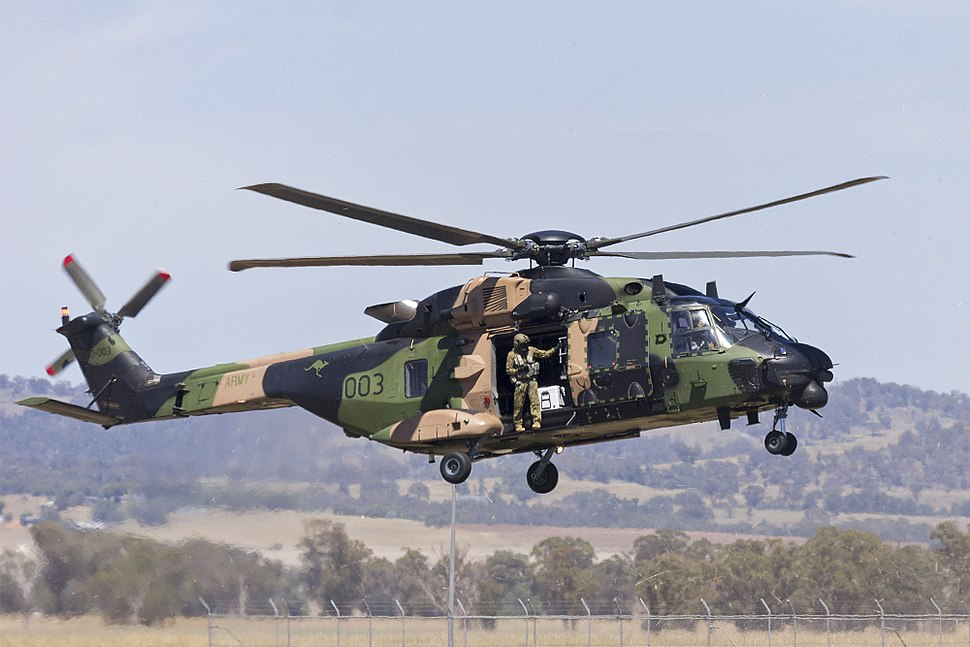 Australian Army (A40-003) NHI MRH-90 arriving at Wagga Wagga Airport