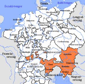 ausztria térkép tartományokkal Ausztriai körzet – Wikipédia ausztria térkép tartományokkal