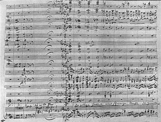Orchestration study or practice of writing music for an orchestra