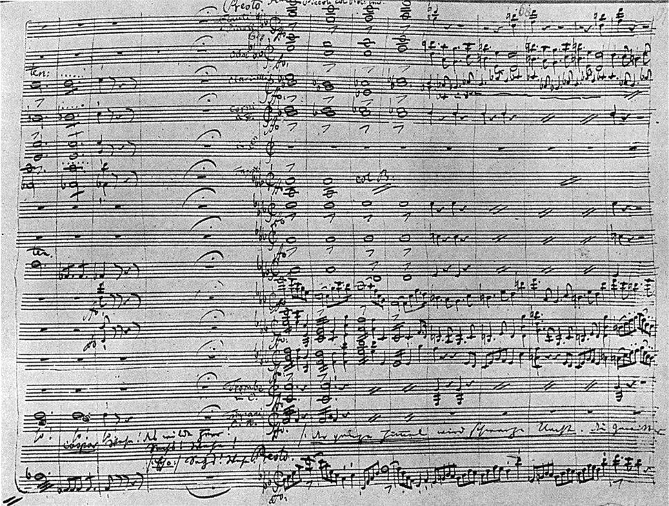 Autograph score of part of Act2 (Wolf's Glen) of 'Der Freischütz' - NGO4p1116
