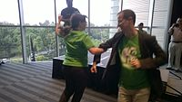 Avner and Darya's wiki Wedding at Wikimania by ovedc 41.jpg
