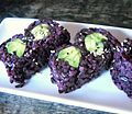 Avocado roll with black rice at Ki-Isu in Yaletown, Vancouver (7730510740).jpg