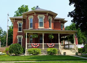 National Register of Historic Places listings in Shiawassee County, Michigan - Image: Ayres House Owosso Michigan