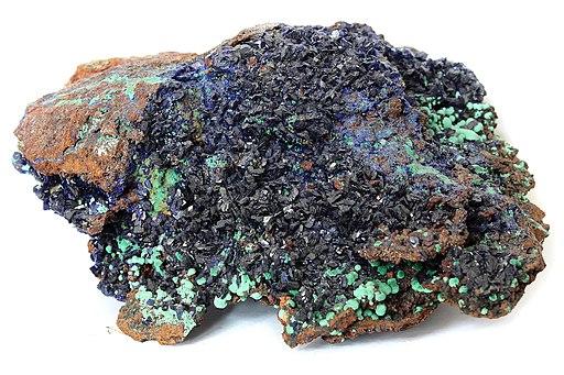 Azurite, malachite