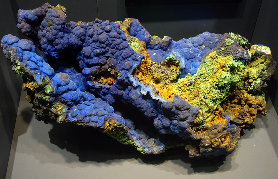 Azurite with Malachite - National Museum of Natural History - Washington, D.C.
