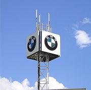 BMW logo sign in Düsseldorf