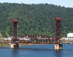 BNSF bridge 5.1 with steam loco SP 4449 crossing.jpg