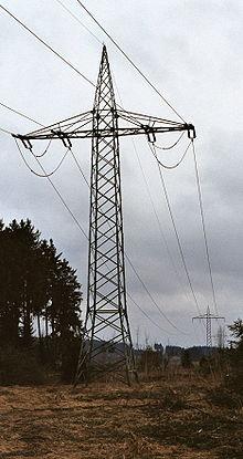 Повітряна лінія електромереж 110 кв для