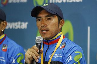 Byron Guamá Ecuadorian racing cyclist