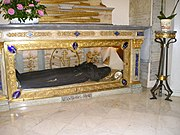 Shrine: glass coffin of St Catherine Labouré
