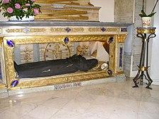 Catholic shrine: glass coffin of St Catherine Labouré
